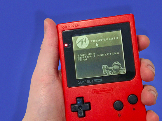 Gameboy with trenta.media site